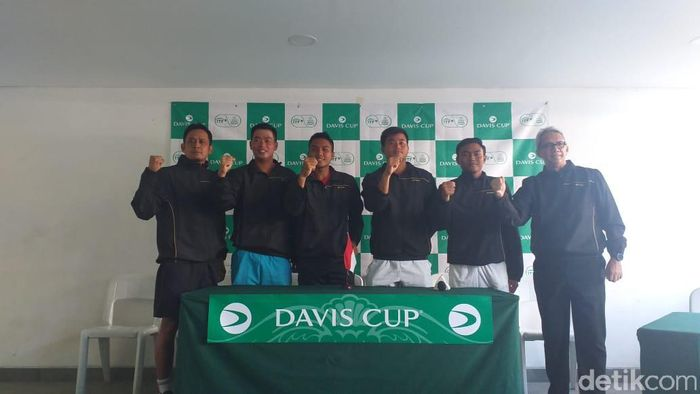 Tim Indonesia menatap Piala Davis 2019. (Foto: Mercy Raya/detikcom)