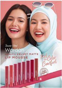 Velvet Matte Lip Mousse Wardah Hadir dengan 8 Pilihan Warna