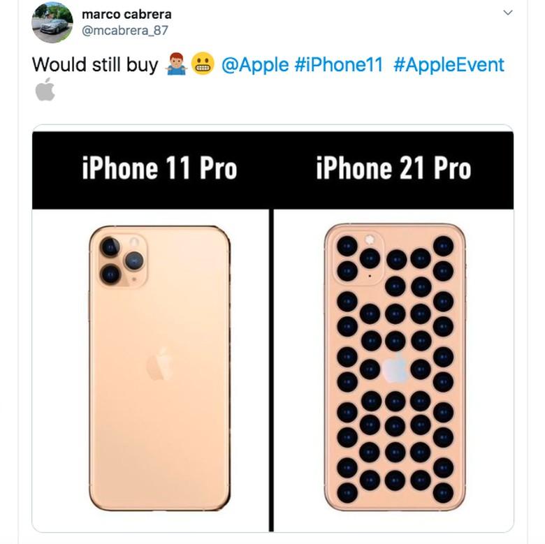 Melihat desain kamera iPhone 11 Pro, apakah nantinya kamera iPhone 21 Pro akan memenuhi seluruh layarnya? Foto: istimewa