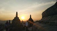 Candi Borobudur di Yogyakarta.