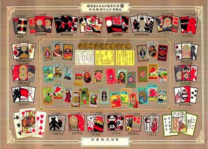 Sebelum jadi perusahaan game ternama, Nintendo mengawali kariernya dengan jualan permainan kartu. Begini tampilannya kartu yang dijual tahun 1889. Istimewa/Dok. Boredpanda.