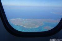 Panorama Rote dari jendela pesawat (Afif Farhan/detikcom)