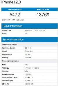 Bocoran Skor Benchmark yang Diduga iPhone 11 Pro