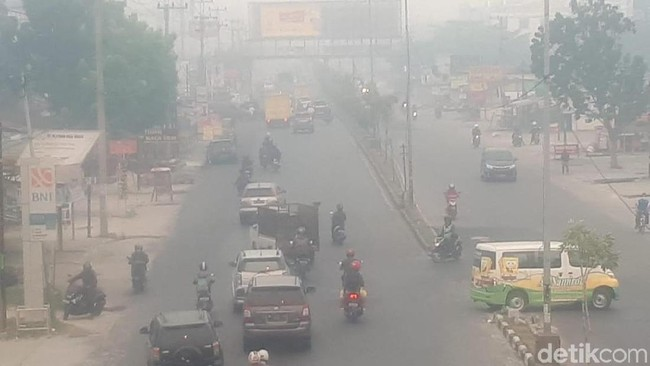 Curhat Pedagang Dikepung Pekatnya Kabut Asap