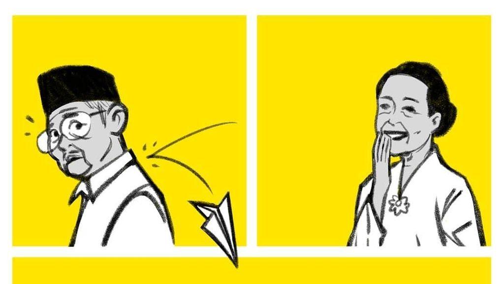 Potret Habibie dan Ainun yang Kembali Muda di Ilustrasi Komik Faktap