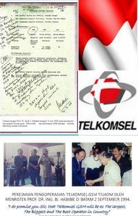 Andil BJ Habibie Lahirkan Telkomsel dan Teknologi GSM
