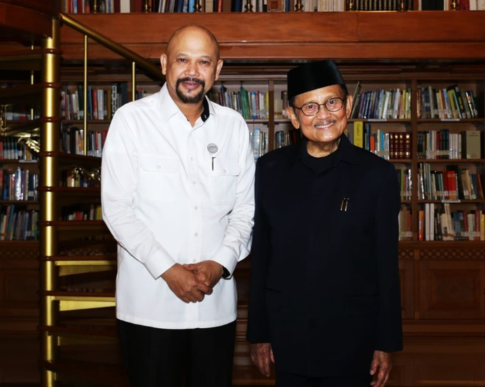 Kepala BPPT Hammam Riza dan BJ Habibie (Dok BPPT)
