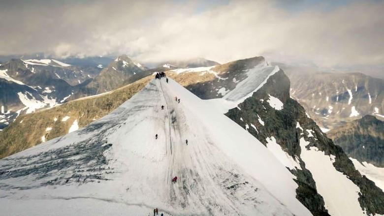 Gunung Kebnekaise di Swedia (CNN)