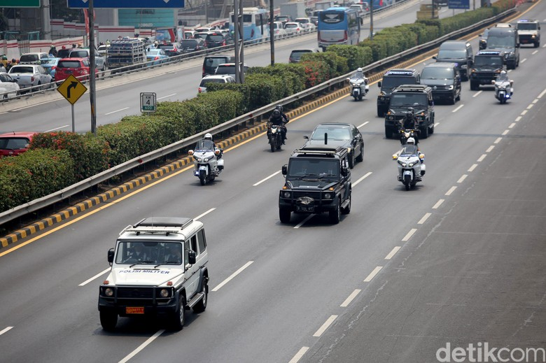 Rombongan Mobil Presiden. Foto: Agung Pambudhy
