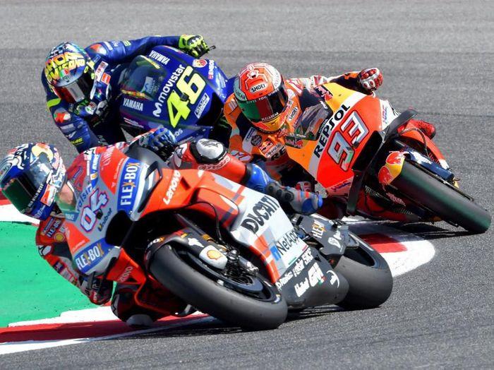 MotoGP San Marino bisa disaksikan di detikSport. (Foto: Tiziana Fabi / AFP)