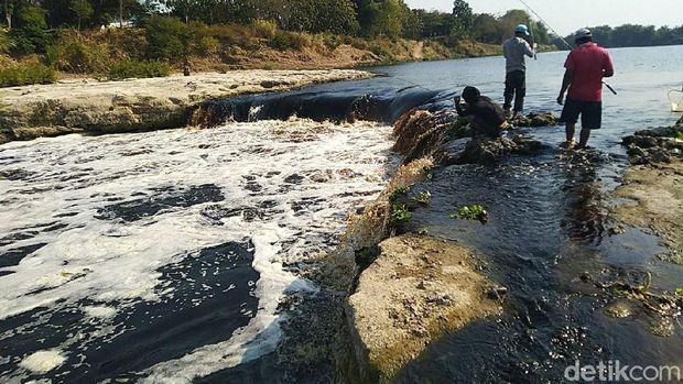 Air Bengawan Solo Hitam Pekat dan Bau, DLH Blora: Tak Membahayakan