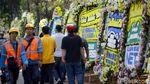 Potret Karangan Bunga Duka Cita untuk BJ Habibie