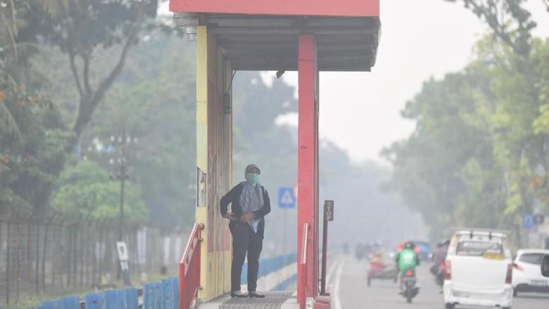 Kabut asap. Foto: Antara Foto