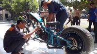 Siswa SMK di Tegal Ciptakan Motor Chopper dari Limbah Logam