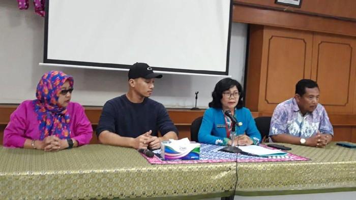 Foto: Bima Aryo jumpa pers di Balai Kesehatan Hewan dan Ternak (Rahel Narda Caterine)