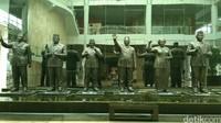 Ketika memasuki museum, kamu akan menemukan patung kelima presiden RI dari Sukarno sampai SBY (Tasya/detikcom)
