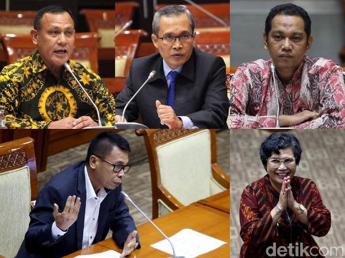 Komisi III DPR RI telah memilih lima nama Pimpinan KPK baru. Kelima orang yang dipilih adalah Firli Bahuri, Alexander Marwata, Lili Pintauli Siregar, Nurul Ghufron, dan Nawawi Pomolango.
