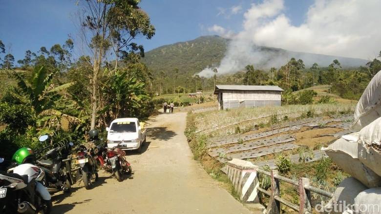 Ilustrasi kebakaran di Gunung Slamet (Arbi Anugrah/detikcom)