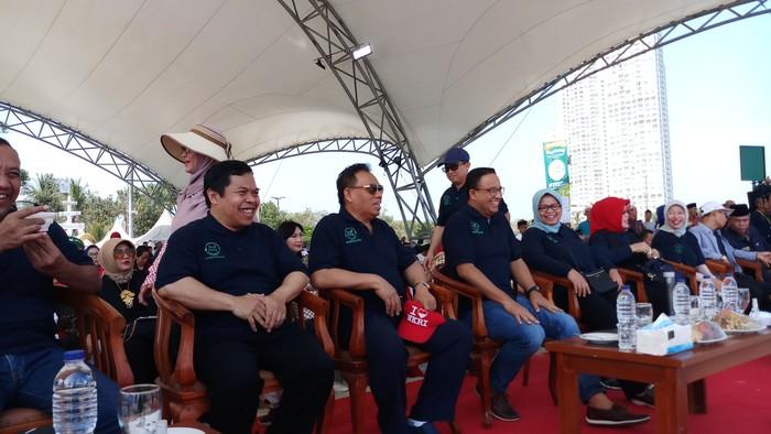 Anies di Acara Lebaran Anak Yatim (Foto: Farih Maulana Sidik/detikcom)