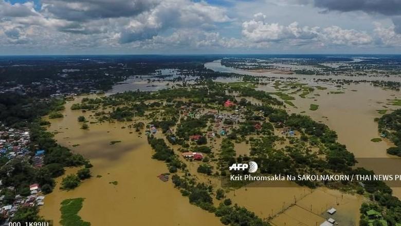 Banjir di Ubon Ratchathani Thailand, 23 Ribu Warga Diungsikan