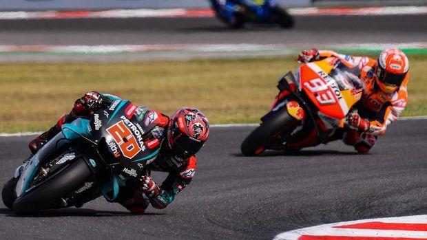 Marc Marquez menang MotoGP San Marino setelah mengalahkan Fabio Quartararo.