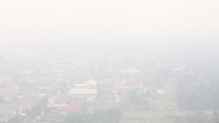 Foto: Situasi asap akibat kebakaran hutan di Riau (dok Istimewa)