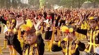 Tak hanya tarian Dolalak, pentas kesenian tradisional lain dari Purworejo juga digelar di amphitheater di pojok alun-alun hingga malam hari dalam acara bertajuk Event Bersama Eks Karesidenan Kedu. Berbagai kesenian tradisional lain dari Kota Magelang, Kabupaten Magelang, Wonosobo, Temanggung dan Kebumen (Rinto/detikcom)