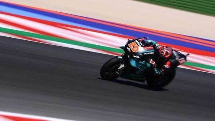 Fabio Quartararo tercepat di sesi latihan bebas kedua MotoGP Jepang (Foto: Marco Bertorello / AFP)