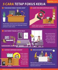5 Cara Tetap Fokus di Lingkungan Kerja yang Sibuk