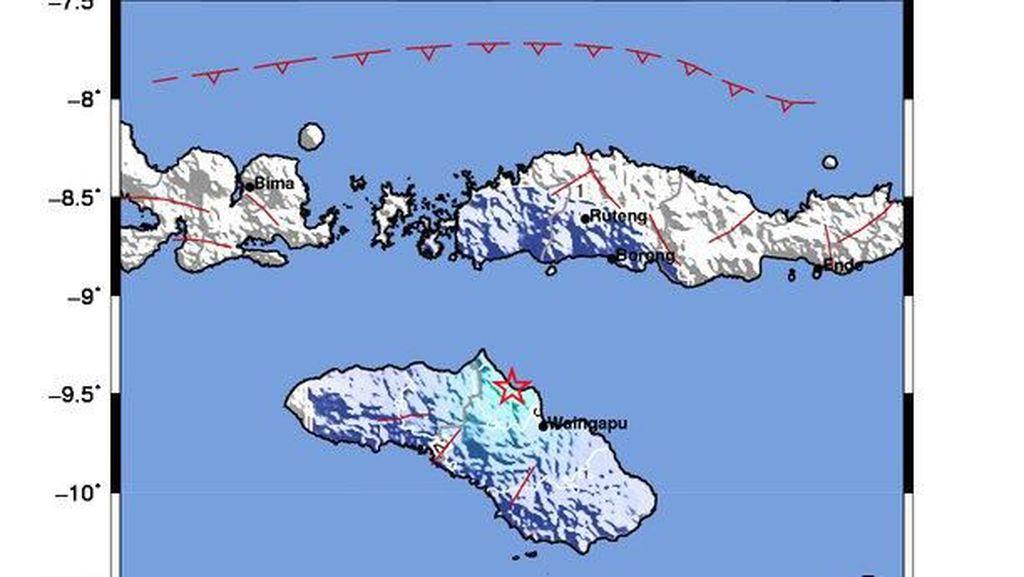 Gempa M 4,5 Terjadi di Waingapu, NTT