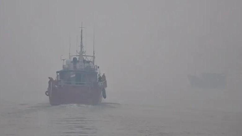 Kemenhub Imbau Nakhoda Kapal Waspadai Kabut Asap Saat Berlayar