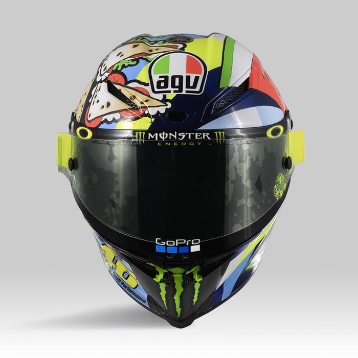 Helm Spesial Valentino Rossi di Misano 2019