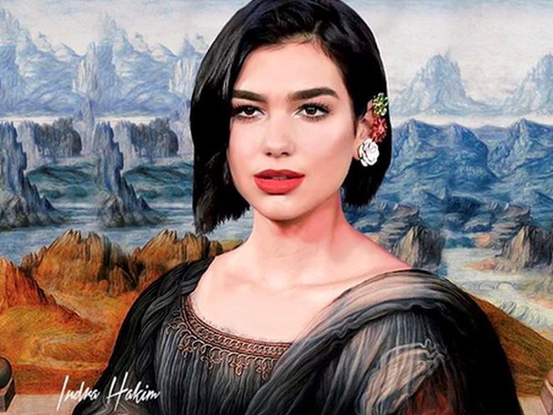 Foto: Dua Lipa jadi Mona Lipa / IG Indrahakim