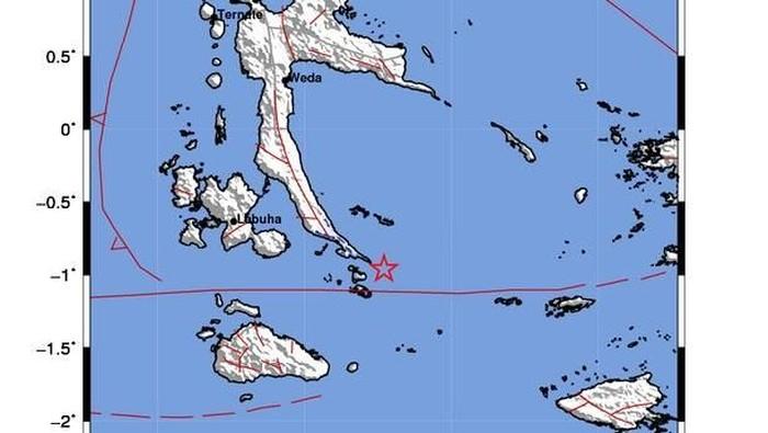 Gempa di Obi, Halmahera Selatan, Maluku Utara (Foto: BMKG)