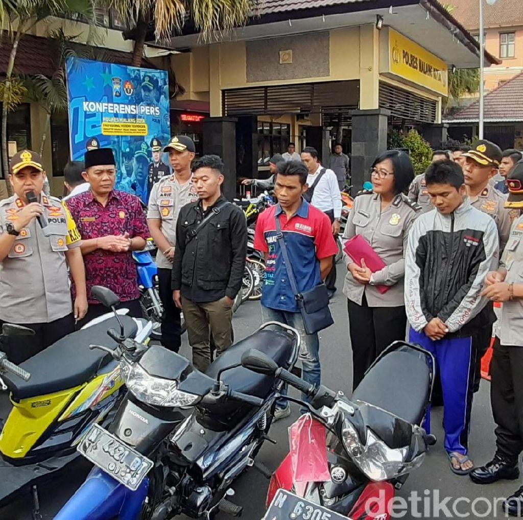 Polres Malang Kota Kembalikan Kendaraan Curanmor pada Para Korban