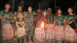 3 Putra Daerahnya Jadi TNI, Suku Kanum Papua Gelar Syukuran Adat
