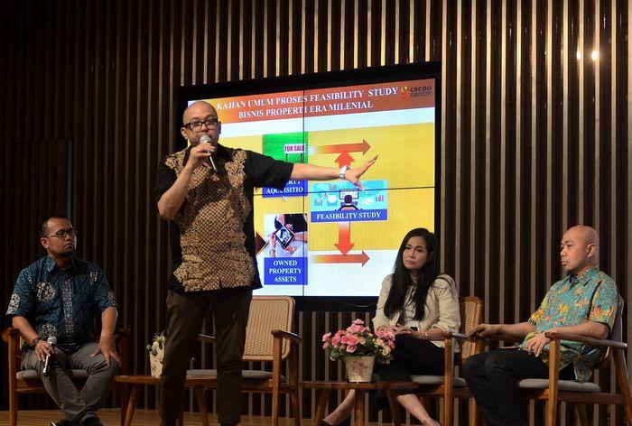 Komunitas Pengusaha Muslim Trisakti dan Pilars 93 menggelar diskusi bisnis properti era milenial di Jakarta, Sabtu (14/9/2019). Kegiatan yang digelar Komunitas Pengusaha Muslim Trisakti dan Pilars 93 ini sebagai sarana silaturahmi para pengusaha properti dan membuka peluang bisnis properti serta konstruksi. Istimewa
