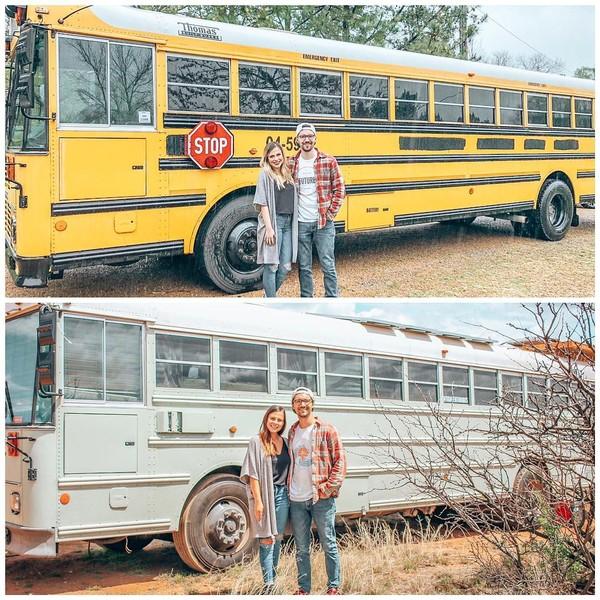 Chase dan Maria akhirnya membeli sebuah bus sekolah berkapasitas 84 orang penumpang seharga US$ 3.500 (setara Rp 49 juta). Dibutuhkan waktu 4 bulan untuk menyulap bus tersebut jadi rumah bergerak mereka. (Instagram/@tioaventurabus)