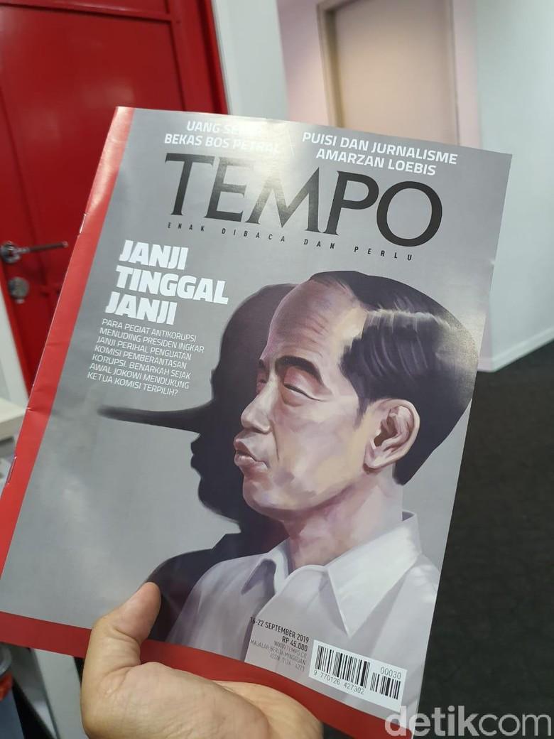 JoMan Laporkan Majalah Tempo ke Dewan Pers Gegara Siluet Jokowi Pinokio