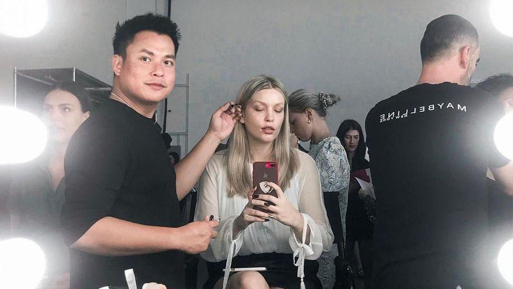 Ini Hasil Riasan Makeup Artis Ryan Ogilvy Dandani Model Internasional di NYFW