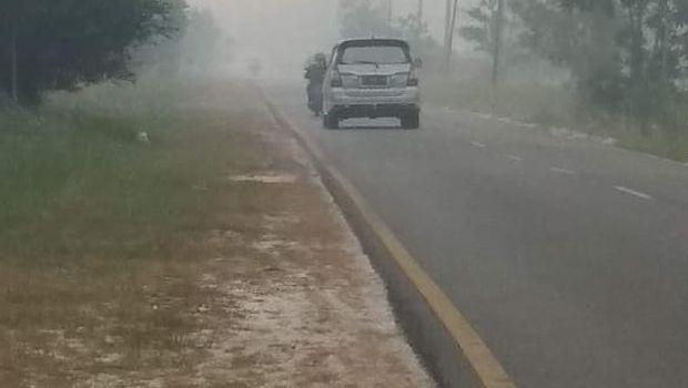 Kepungan asap di Palangkaraya, Kalimantan Tengah
