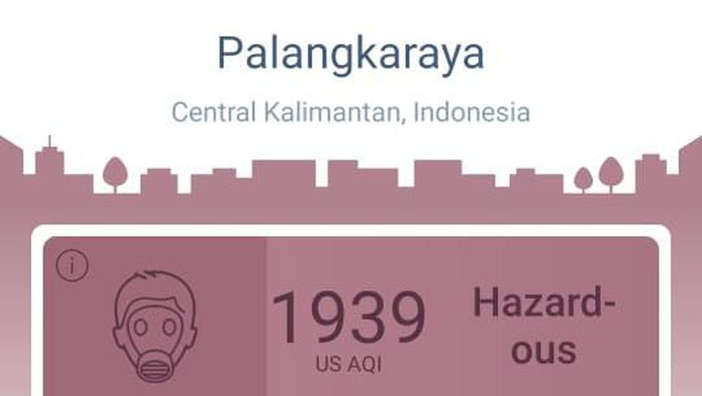 Kualitas Udara Palangkaraya Berbahaya! Netizen Protes #SawitBaik