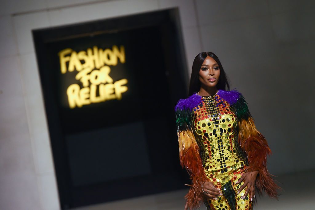 LONDON, ENGLAND - SEPTEMBER 14: Naomi Campbell attends Fashion For Relief London 2019 at The British Museum on September 14, 2019 in London, England. (Photo by Jeff Spicer/Getty Images for Fashion For Relief)