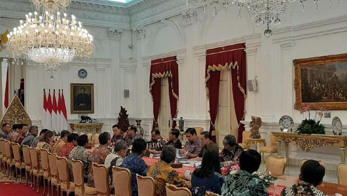 Presdien Jokowi bertemu pengusaha/Foto: Hendra Kusuma