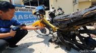 Ini Motor yang Dibakar Pemuda Cianjur karena Tak Terima Ditilang