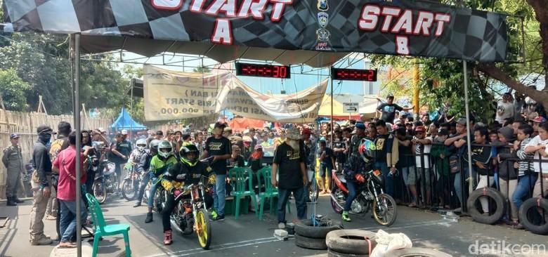 Tekan Balap Liar Drag Bike Digeber Di Probolinggo