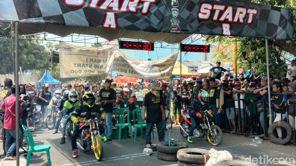 Tekan Balap Liar, Drag Bike Digeber di Probolinggo