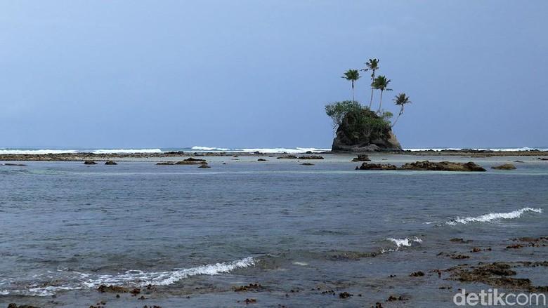 Pulau yang mirip di film Spongebob di Aceh (Randy/detikcom)