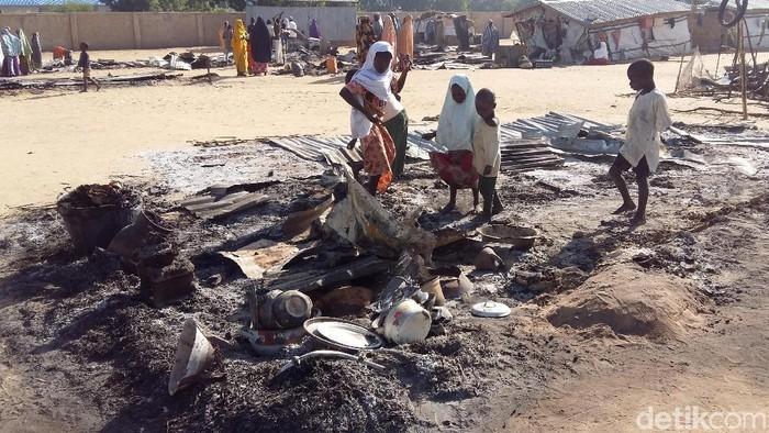 Bekas serangan Boko Haram di Nigeria