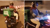 Waduh! Ibu Hamil Ini Ngidam Jadi Driver Ojol yang Antar Makanan